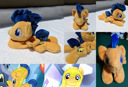 Size: 3176x2160 | Tagged: armor, artist:plushbyanto, beanie (plushie), chibi, equestria girls, equestria girls (movie), eyes closed, flash sentry, folded wings, front view, helmet, irl, laying down, male, minky, no mouth, no nostrils, no pupils, pegasus, photo, plushie, pony, profile, prone, safe, screencap, smiling, solo, sploot, stallion, toy, twilight's kingdom, wings