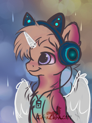 Size: 600x800 | Tagged: safe, oc, pony, advertisement, any gender, any species, auction, commission, headphones, sketch, solo, your character here