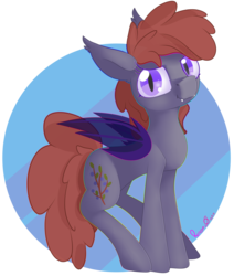 Size: 3696x4352 | Tagged: artist:notmywing, bat pony, bat pony oc, high res, oc, oc:lukida, pony, safe, simple background, solo, standing, transparent background