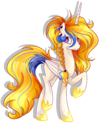 Size: 690x863 | Tagged: artist:xxmelody-scribblexx, base used, golden feather, idw, pony, princess celestia, safe, simple background, solo, spoiler:comic, spoiler:comic65, transparent background