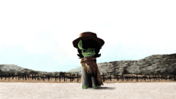 Size: 1920x1080 | Tagged: artist:plunger, candy, cemetery, clint eastwood, clothes, cowboy hat, female, filly, food, hat, lollipop, movie reference, oc, oc:filly anon, oc only, poncho, ponified, pony, safe, solo, the good the bad and the ugly, the man with no name
