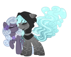 Size: 1024x820 | Tagged: artist:crystal-tranquility, female, male, oc, oc:misty shores, oc only, oc:weeping sorrow, original species, pond pony, pony, safe, simple background, transparent background