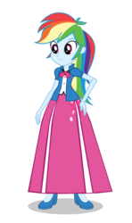 Size: 550x930 | Tagged: alternate universe, alternate version, artist:cartoonmasterv3, clothes, equestria girls, long skirt, rainbow dash, safe, shoes, skirt