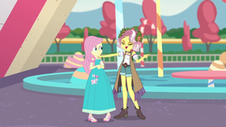 Size: 1920x1080 | Tagged: alternate universe, artist:starman1999, edit, edited screencap, equestria girls, equestria girls series, fluttershy, human, humanized, long dress, rollercoaster of friendship, safe, screencap, vignette valencia