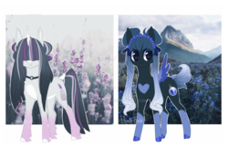 Size: 1280x827 | Tagged: artist:shady-bush, female, mare, oc, oc:misty mountain, oc:morning frost, oc only, pegasus, pony, safe, unicorn