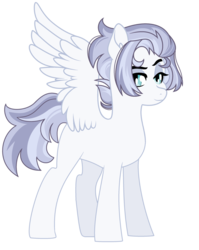 Size: 1280x1610 | Tagged: artist:rosebuddity, female, mare, oc, oc:thunderstruck, offspring, parent:flash sentry, parent:rainbow dash, parents:flashdash, pony, safe, simple background, solo, transparent background