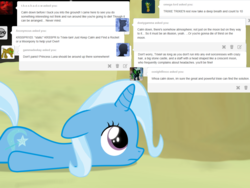 Size: 1200x900 | Tagged: safe, artist:evil-dec0y, trixie, pony, comic:trixie vs., comic:trixie vs. the moon, age regression, female, filly, filly trixie, moon, solo, younger