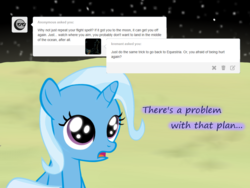 Size: 1200x900 | Tagged: safe, artist:evil-dec0y, trixie, pony, unicorn, comic:trixie vs., comic:trixie vs. the moon, age regression, female, filly, filly trixie, moon, solo, younger