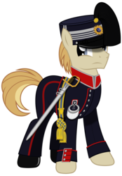 Size: 1024x1468 | Tagged: artist:brony-works, clothes, earth pony, hat, male, pony, safe, simple background, solo, stallion, sweden, transparent background, uniform