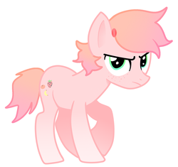 Size: 1303x1225 | Tagged: artist:thatgreypeanut, derpibooru exclusive, earth pony, frown, oc, oc:strawberry blitz, original character do not steal, pony, safe, solo