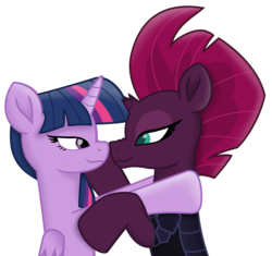 Size: 7511x7065 | Tagged: alicorn, alternate version, armor, artist:ejlightning007arts, boop, cute, edit, female, lesbian, my little pony: the movie, noseboop, safe, shipping, simple background, tempestlight, tempest shadow, transparent background, twilight sparkle, twilight sparkle (alicorn), vector