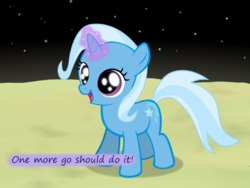 Size: 1200x900 | Tagged: safe, artist:evil-dec0y, trixie, pony, comic:trixie vs., comic:trixie vs. the moon, age regression, female, filly, filly trixie, moon, younger