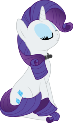 Size: 1756x2938 | Tagged: safe, artist:eagle1division, rarity, pony, unicorn, behaving like a cat, collar, eyes closed, female, mare, regal, simple background, sitting, solo, transparent background, vector