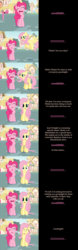 Size: 2000x6399 | Tagged: artist:mlp-silver-quill, comic, comic:pinkie pie says goodnight, duo, earth pony, female, fluttershy, mare, onomatopoeia, open mouth, pegasus, pinkie pie, pony, ponyville, safe, sleeping, sound effects, talking to viewer, zzz