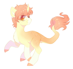 Size: 1273x1202 | Tagged: artist:shady-bush, male, oc, oc:citrus, one eye closed, pony, safe, simple background, solo, stallion, transparent background, unicorn, wink