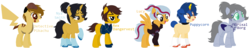 Size: 2100x404 | Tagged: safe, artist:selenaede, artist:spidermanfan16, earth pony, pegasus, pikachu, pony, robot, robot pony, unicorn, base used, detective pikachu, lego, ninjago, nya smith, p.i.x.a.l., pokémon, ponified, puppycorn, rex dangervest, spoilers for another series, the lego movie, the lego movie 2: the second part, unikitty! (tv series), wyldstyle