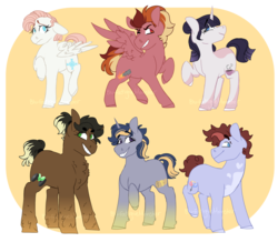 Size: 1024x892 | Tagged: artist:blu-fatiguemonster, lego, magical lesbian spawn, next generation, ninjago, oc, offspring, parent:applejack, parent:cole brookstone, parent:fluttershy, parent:jay walker, parent:kai smith, parent:lloyd garmadon, parent:nya smith, parent:pinkie pie, parent:rainbow dash, parent:rarity, parent:twilight sparkle, parent:zane julien, safe, unnamed oc