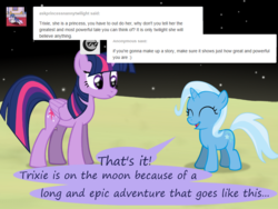 Size: 1200x900 | Tagged: age regression, alicorn, artist:evil-dec0y, comic:trixie vs., female, filly, filly trixie, moon, pony, safe, trixie, trixie vs the moon, twilight sparkle, twilight sparkle (alicorn), younger