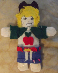 Size: 2888x3597 | Tagged: applejack, artist:grapefruitface1, arts and crafts, equestria girls, felt, irl, paper plush, paper plushie, photo, safe, solo, toy