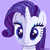 Size: 800x800 | Tagged: artist:seahandlerart, bust, cute, pixel art, pony, portrait, purple background, raribetes, rarity, safe, simple background, solo