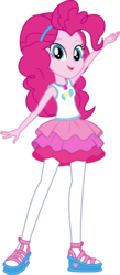 Size: 5000x11488 | Tagged: absurd res, artist:twilirity, clothes, equestria girls, equestria girls series, female, geode of sugar bombs, magical geodes, open mouth, pinkie pie, safe, simple background, solo, transparent background, vector