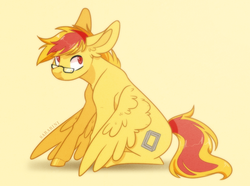 Size: 751x558 | Tagged: artist:sararini, glasses, male, oc, oc:timber leaf, pegasus, pony, safe, solo, stallion