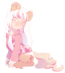Size: 1308x1480 | Tagged: safe, artist:shady-bush, oc, oc:lust, earth pony, pony, clothes, female, jacket, mare, simple background, solo, transparent background