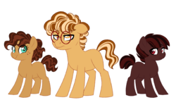 Size: 6000x3400 | Tagged: artist:azure-art-wave, colt, eart pony, female, filly, male, oc, oc:brownie batter, oc:butterscotch pie, oc:cokie dough, oc only, offspring, parent:cheese sandwich, parent:pinkie pie, parents:cheesepie, pony, safe, simple background, transparent background