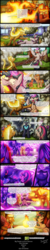Size: 1200x6055 | Tagged: alicorn, artist:bonaxor, comic:the greater flame, derp, fire pony, magic, nightmare star, oc, oc:firespite, oc:princess dream, pony, safe, train, twilight sparkle, twilight sparkle (alicorn)