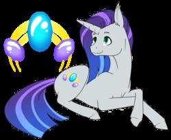 Size: 2868x2343 | Tagged: safe, artist:oneiria-fylakas, oc, oc only, oc:opale shine, pony, unicorn, female, mare, offspring, parent:rarity, parent:thunderlane, parents:rarilane, prone, simple background, solo, transparent background