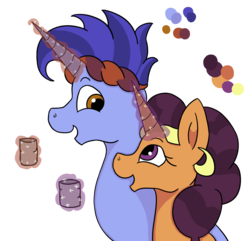 Size: 932x899 | Tagged: artist:flamirasplitz, crack shipping, female, hoo'far, male, pony, safe, saf'far, saffron masala, shipping, straight