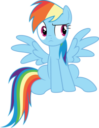 Size: 3000x3843 | Tagged: artist:dashiesparkle, daring done?, female, high res, mare, pegasus, pony, rainbow dash, safe, simple background, sitting, solo, .svg available, transparent background, vector