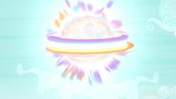 Size: 1280x720 | Tagged: safe, screencap, pony, twilight's kingdom, rainbow, rainbow of harmony, rainbow power