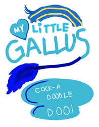 Size: 791x1009   Tagged: safe, artist:horsesplease, gallus, cock-a-doodle-doo, crowing, gallus the rooster, my little pony logo, my little x, paint tool sai