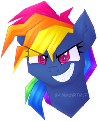 Size: 782x964 | Tagged: adorapiehater, artist:kimmyartmlp, beautiful, best pony, best villain, cute, dashabetes, evil grin, evil pie hater dash, fabulous, female, grin, majestic, mare, pony, rainbow dash, safe, secrets and pies, simple background, smiling, solo, transparent background