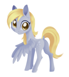 Size: 1512x1684 | Tagged: safe, artist:dusthiel, derpy hooves, pegasus, pony, dock, female, looking back, mare, simple background, solo, transparent background