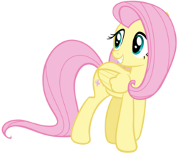 Size: 6702x5803 | Tagged: safe, artist:andoanimalia, fluttershy, pegasus, pony, filli vanilli, absurd resolution, cute, female, mare, shyabetes, simple background, smiling, solo, transparent background, vector, walking