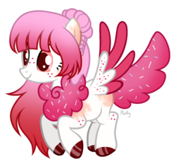 Size: 1280x1187   Tagged: safe, artist:mintoria, oc, oc:buttercream, pegasus, pony, chest fluff, female, mare, simple background, solo, transparent background, two toned wings, wings