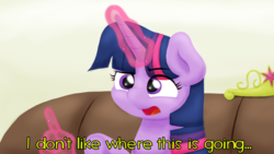 Size: 1920x1080 | Tagged: alicorn, artist:ljdamz1119, big crown thingy, crown, dialogue, element of magic, female, glowing horn, hand, horn, jewelry, jontron, magic, magic hands, mare, ponified meme, pony, reaction image, regalia, safe, solo, telekinesis, twilight sparkle, twilight sparkle (alicorn)