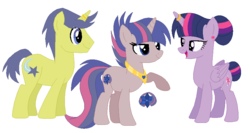 Size: 890x474 | Tagged: alicorn, artist:theanimeartistishere, cometlight, comet tail, family, female, male, offspring, parent:comet tail, parents:cometlight, parent:twilight sparkle, pony, safe, shipping, straight, twilight sparkle, twilight sparkle (alicorn)