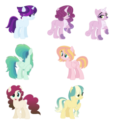 Size: 1234x1306 | Tagged: artist:selenaede, artist:themaskedmare, bald, base used, bedroom eyes, blank flank, earth pony, female, females only, fluffy mane, freckles, grin, hair over eyes, hybrid, interspecies offspring, magical lesbian spawn, multicolored hair, next generation, oc, oc only, offspring, parent:applejack, parent:big macintosh, parent:capper, parent:cheese sandwich, parent:coloratura, parent:flash sentry, parent:fluttershy, parent:pinkie pie, parent:rainbow dash, parent:rarity, parents:capperity, parents:cheesepie, parents:flashlight, parents:fluttermac, parent:soarin', parents:rarajack, parents:soarindash, parent:twilight sparkle, paws, pegasus, pony, raised leg, safe, smiling, smirk, unicorn