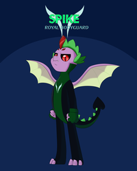 Size: 4000x5000 | Tagged: safe, alternate version, artist:chedx, spike, dragon, comic:the storm kingdom, my little pony: the movie, alternate timeline, alternate universe, bad end, bodyguard, bodyguard spike, bodysuit, brainwashed, clothes, comic, crystal of light, evil, mind control, parallel universe, suit, the bad guy wins, winged spike