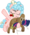 Size: 4290x4841 | Tagged: safe, artist:frownfactory, cozy glow, pegasus, pony, frenemies (episode), spoiler:s09e08, .svg available, dancing, eyes closed, female, filly, flower, flying, plushie, rose, simple background, solo, svg, transparent background, vector, wings