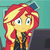 Size: 1080x1080 | Tagged: crossed eyes, episode needed, equestria girls, female, safe, screencap, solo, sunset shimmer, thousand yard stare
