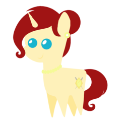 Size: 1280x1280 | Tagged: artist:archooves, female, milf, oc, oc:golden brooch, pointy ponies, pony, safe, simple background, transparent background, unicorn