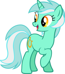 Size: 6000x6828 | Tagged: artist:moongazeponies, cute, lyra heartstrings, open mouth, pony, raised hoof, safe, simple background, smiling, solo, transparent background, unicorn, vector
