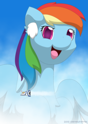 Size: 2000x2800 | Tagged: artist:rockfannel, female, giant pony, high res, macro, mare, open mouth, pegasus, pony, rainbow dash, safe, solo
