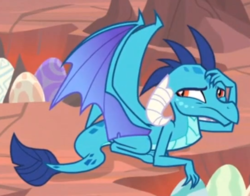 Size: 548x429 | Tagged: safe, screencap, princess ember, dragon, sweet and smoky, cropped, cute, dragon egg, dragoness, egg, emberbetes, female, prone, solo