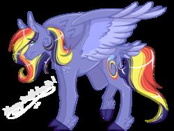 Size: 2048x1536 | Tagged: safe, artist:xlilsketchii-adopts, artist:xsketchiidyarts, oc, oc only, oc:paint swirl, pegasus, pony, kindverse, offspring, parent:rainbow dash, parent:soarin', parents:soarindash, solo