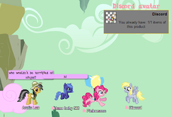 Size: 400x274 | Tagged: safe, daring do, derpy hooves, discord, ditzy doo, pinkie pie, princess luna, pony, balloon, chat, chatroom, cloud, cotton candy, cotton candy cloud, desktop ponies, female, filly, filly luna, flying, food, mmo, pixel art, ponyplace, sprite, woona, younger